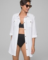 Dotti Cotton Gauze Shirt Dress Swim Coverup