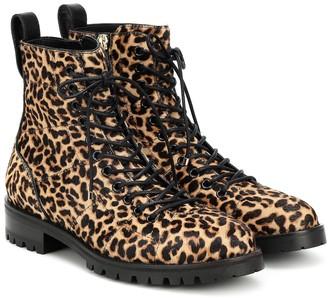 Jimmy Choo Cruz Flat calf-hair ankle boots