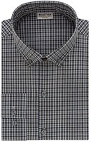 Kenneth Cole Reaction Men's Technicole Slim Fit Check Buttondown Collar Dress Shirt