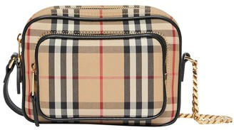 Burberry Vintage Check and Leather Camera Bag