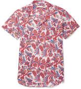 Etro Camp-Collar Paisley-Print Linen Shirt
