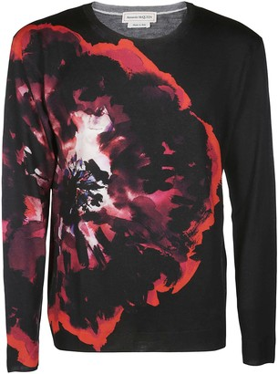 Alexander McQueen Graphic Printed Long-Sleeve Shirt