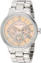Vince Camuto Women's VC/5313PMSV Analog Display Japanese Quartz Silver Watch