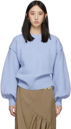 J.W.Anderson Blue Balloon Sleeve Sweater