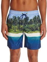 Sundek Island Print Swim Trunks