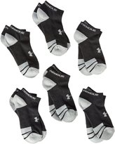 Under Armour Youth Resistor No Show Socks, Black, Youth Large (Pack of 6)