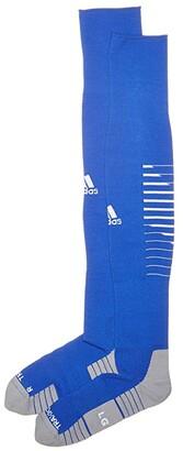 adidas Team Speed II Soccer OTC Sock (Bold Blue/White/Light Onix) Crew Cut Socks Shoes