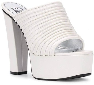 Givenchy White Look Book Platform Mule