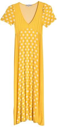 Velvet Torch Mixed Dot Short Sleeve Maxi Dress