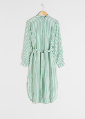 And other stories Striped Belted Shirt Dress