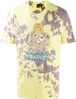 Blood Brother Melted print T-shirt