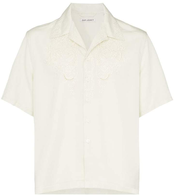 Our Legacy embroidered short sleeve shirt