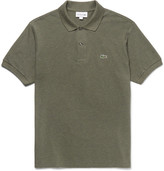 Lacoste Mélange Cotton-piqué Polo Shirt - Green