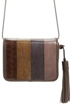 AllSaints Bansho Genuine Snakeskin Crossbody Bag - Brown