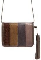 AllSaints Bansho Genuine Snakeskin Crossbody Bag - Brown