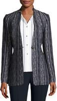 Elie Tahari Bonnie Tweed Blazer Jacket, Navy