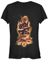 Fifth Sun Women's Tee Shirts BLACK - Assassin's Creed Black Kassandra Tall Crewneck Tee - Women & Juniors