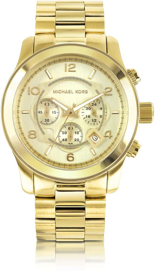 48b34ef79010 Michael Kors Mens Stainless Steel Chronograph Watch - ShopStyle