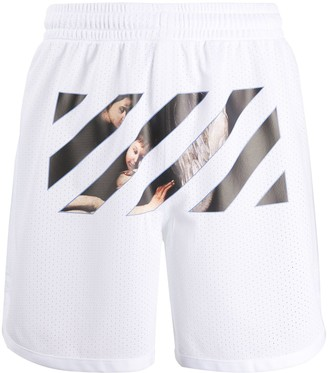Off-White Caravaggio Angel mesh shorts