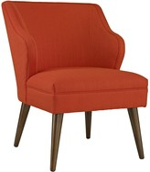 The Well Appointed House Red Upholstered Chair on Dowel Wood Legs