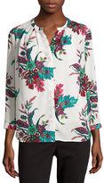 Liz Claiborne Long Sleeve Y Neck Woven Blouse-Talls