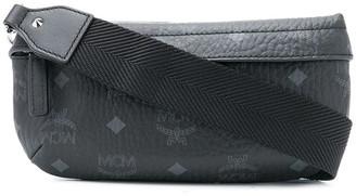 MCM Monogram Logo-Print Belt Bag