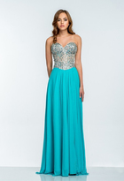 Terani Couture 151P0036A Sequin Embellished Sweetheart Gown