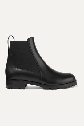 Christian Louboutin Machcroche Leather Chelsea Boots - Black