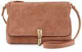 Elizabeth and James Cynnie Suede Micro Crossbody Bag, Twig