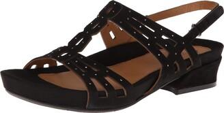 Earthies Women's Tica Black Sandal 6 M