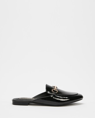 Billini - Women's Black Brogues & Loafers - Olivia Slide On Loafers - Size 6 at The Iconic