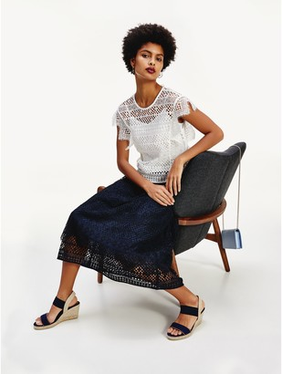 Tommy Hilfiger Lace Overlay Top