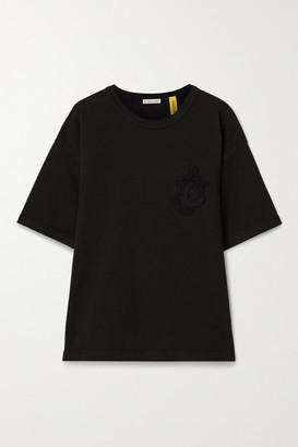 MONCLER GENIUS 1 Jw Anderson Appliqued Cotton-jersey T-shirt - Black