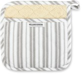 Williams-Sonoma Williams Sonoma Striped Potholder, Drizzle Grey