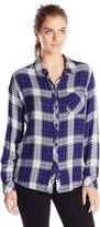 Rails Women's Hunter Long Sleeve Button Down Plaid Shirt