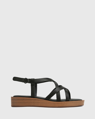 Wittner - Women's Black Sandals - Etienne Leather Cross Strap Sandals - Size One Size, 38 at The Iconic