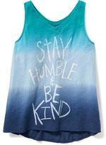 Old Navy Graphic Slub-Knit Swing Tank for Girls