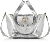 Meli-Melo Rose Thela Silver Metallic Nappa Leather Mini Crossbody Bag
