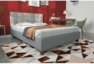 Andover MillsTM Amherst Upholstered Platform Bed Andover Mills Color: Dark Gray, Size: Full