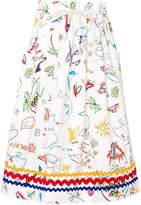 Mira Mikati multi-print skirt