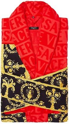 Versace Logo Toweling Baroque Bathrobe
