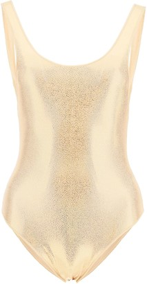 Oseree One Piece Swimsuit Metallic Sporty Maillot