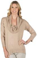 Larry Levine Women's Cowlneck Sweater