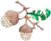 Frankie & Stein Women's Brooches and Pins - Green & Goldtone Rhinestone Acorn Brooch