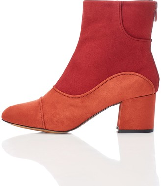 Find. Womens Boots in 1960s Suede Look with Back Zip