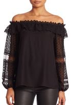 Parker Exclusive Willow Off-the-Shoulder Lace Top