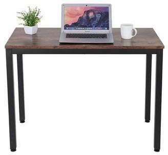 """17 Stories Adiline Desk Color: Brown/Black, Size: 43.31"""" H x 22.83"""" W x 22.83"""" D"""