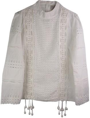 Yves Salomon White Cotton Top for Women