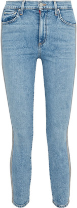 Alice + Olivia Good Cropped Bead-embellished High-rise Skinny Jeans
