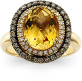 LeVian CORP LIMITED QUANTITIES Grand Sample Sale Deco Estate Collection Genuine Citrine and Diamond Ring